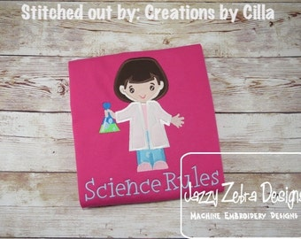 Chemist Girl Applique Design