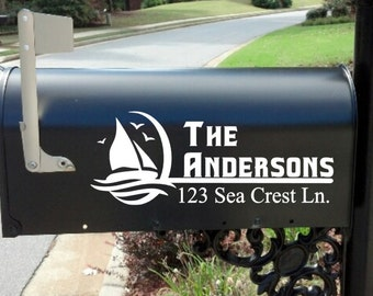 Mailbox Decal * Mail Box*  Lake House * Beach  * Custom *  Personalized