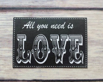 All You Need Is Love Refrigerator Magnet READY TO SHIP