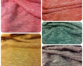 Fuzzy Heather Sweater Knit Fall Colors Polyester Spandex Fabric - 58 to 60 Inches Wide - By the Yard or Bulk