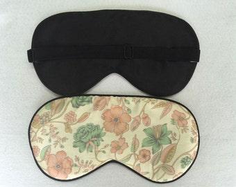 1pc silk eyewear sleep eye mask travel mask sleeping masks big size color floral print