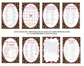 leopard baby shower games animal print baby games cheetah shower games baby shower