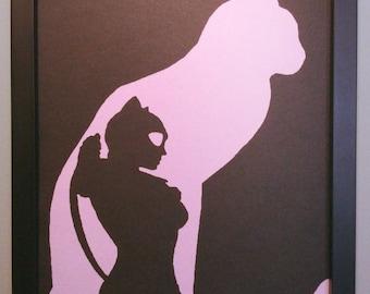 Cat woman wall art
