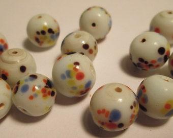 13 Vintage Japanese Glass Beads