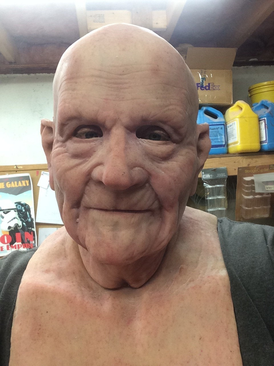 Barry Old Man Mask great disguise and made to order bald no