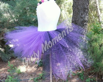 Purple and Black Zebra tail tutu