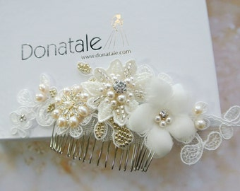 Bridal hair accessory Bridal hair comb Wedding Hair Comb  Bridal Headpiece  Bridal comb Wedding Comb Bridal Fascinator -ANNABELLE