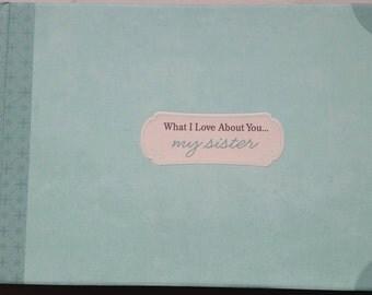 Hallmark Sister Photograph Scrapbook Album