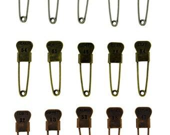 Trinket Pins by Tim Holtz (Pkg of 15)  (EB2011)