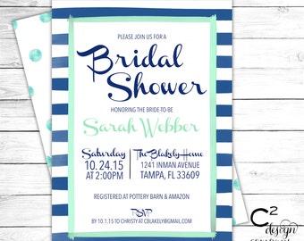 Brushstroke Bridal Shower Invitation