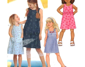 Butterick Sewing Pattern 3148 Girls' Dress Size:  2-3-4-5  Uncut