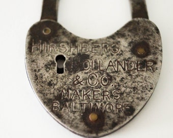 Heart Shaped Lock Advertising Piece- Baltimore, MD