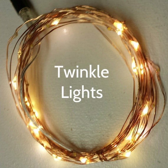 16.5-Foot 5m 50 Twinkle Fairy Lights on copper or silver