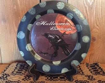 Halloween Greetings Plate
