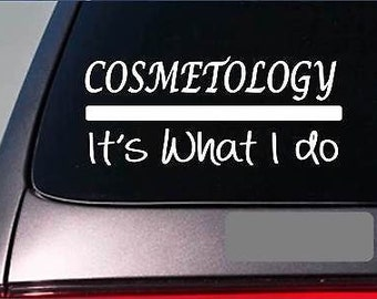 Cosmetology Decal Etsy