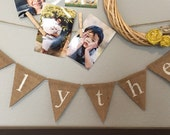 CUSTOM Name Banner Bunting for Child or Baby Nursery Decor Baby Shower