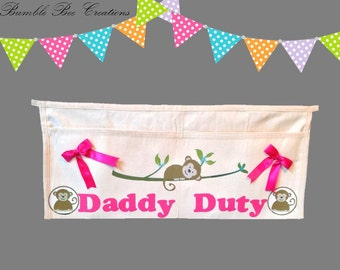 Daddy Duty Tool Belt - Monkey Pink