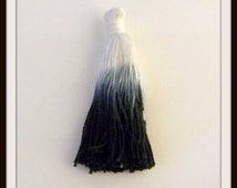 Tassels-Unique Hand Dyed Ombre Tassels-Large Tassels-Black Cotton Tassel-Hand Dyed in India-Textiles-Jewelry-DIY-destash-Celestial Luxuries