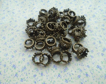 20 pcs of antique bronze color metal crown pendant charm , 18*8mm , MP82