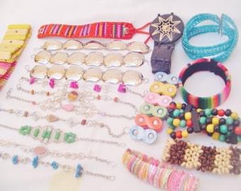 41 Assorted Exotic Bracelets - Handmade Peruvian Jewelry Art