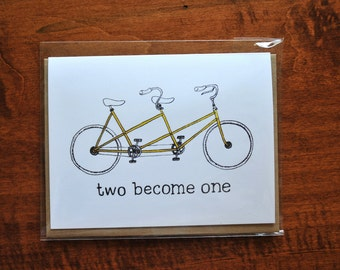 Two Become One, Wedding Card
