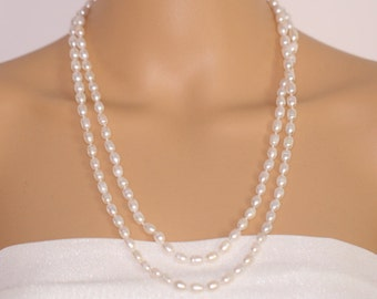 Extra long pearl necklace,120cm(47inch) long pearl necklace,freshwater pearl necklace,endless opera pearl necklace,gift for mom,grandma gift