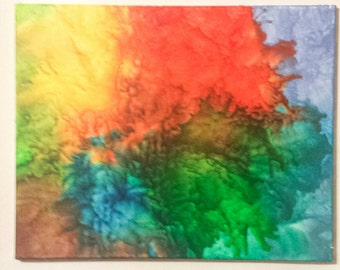 Melted crayon art on 16 X 20 canvas