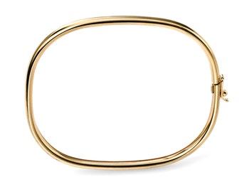 Gold Hinge Bangle, Plain Gold Bracelet