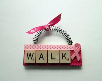 Cancer 3-Day Walk Scrabble Tile Ornament