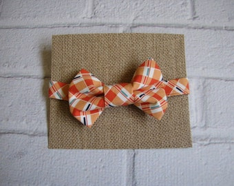 Plaid Bow Tie ~ Orange Plaid Bow Tie ~ Boys Bow Tie ~ Childs Bow Tie ~ Dapper Boys Bow Tie ~ Photo Shoot Outfit
