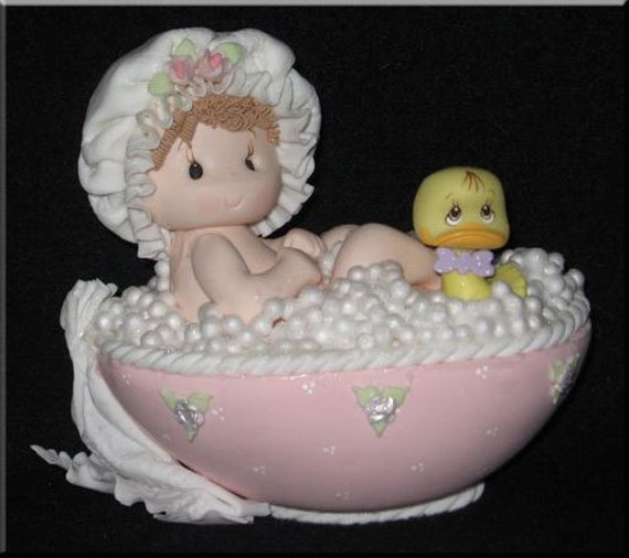 baby shower cake baby in bathtub cake topper baby girl cake toppers