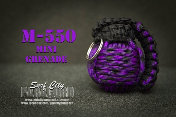 m 550 mini paracord grenade purple by surfcityparacord on etsy