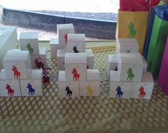 MATTE Horseman Favor Boxes Set of 10