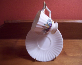Vintage Lenox Priscilla Style Demitasse Cup and Saucer - Rutledge P303 - Made in U.S.A.