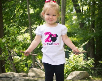 Pink polka dot minnie mouse birthday outfit - 2nd birthday shirt - custom birthday shirt