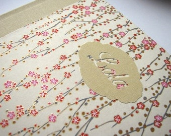 Baby photo album personalized Japanese paper