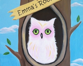 Cozy Owl Room Sign ~ Custom