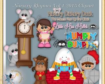 Nursery Rhymes Clipart 2015 Volume 1