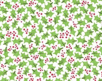 Half Yard - Cloud9 Festive Holly Holiday Christmas Fabric