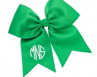 Monogrammed Green Gaming Bow