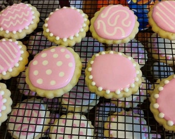 Scalloped circle cookies - 18 cookies