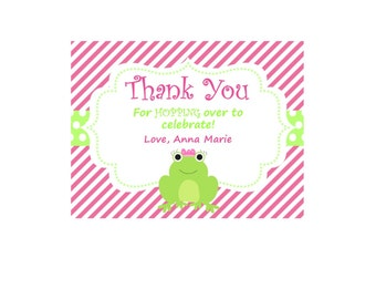 Frog Theme Thank You Cards - Frog Thank You - Frogs - Digital Frog Thank You- Set of 12 - Available in ANY Theme