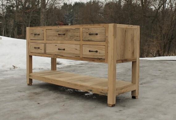 Rustic Vanity 30IN Reclaimed Barn Wood Raised Grain
