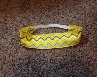 Yellow cheveron headband