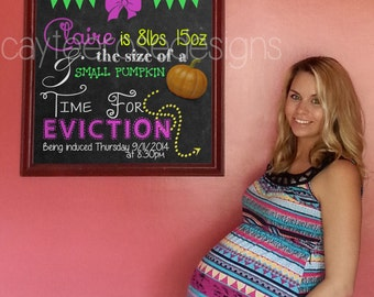 CUSTOM Week By Week Pregnancy Chalkboards - 6 Weeks to 40 Weeks - Photoshopped Pregnancy Chalkboards