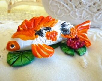 Koi Fish Figurine Totem