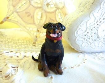 Rottweiler Dog Miniature Figurine