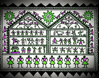 Warli Paintings, Maharashtra, India