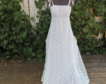Vintage Pleated Lace Dress