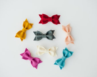 Medium Felt Bow/Headband - You Pick 3